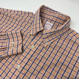 Regular Fit Brooks Brothers Logo Plaid Shirt